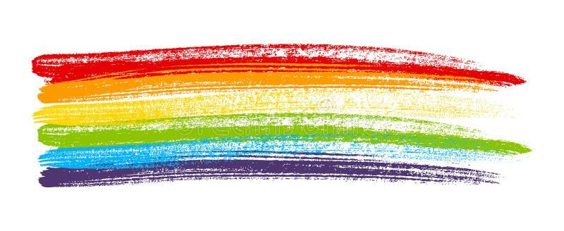 Elemento della pittura dell'arcobaleno royalty illustrazione gratis
