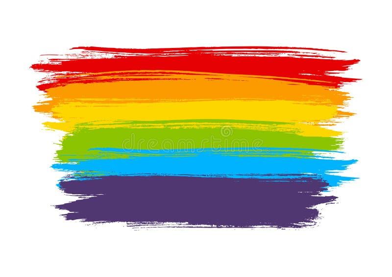 Elemento della pittura dell'arcobaleno isolato su bianco royalty illustrazione gratis