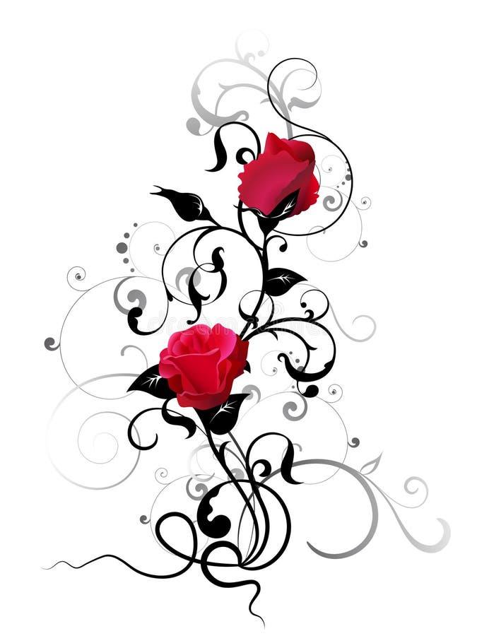 Elemento della Rosa royalty illustrazione gratis