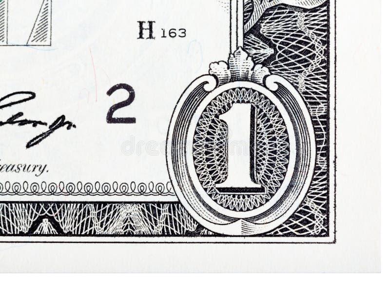 Elemento detallado basado en un un billete de dólar imagenes de archivo