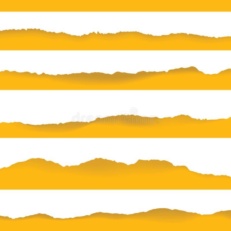 Elemento di carta strappato del fondo per progettazione illustrazione vettoriale