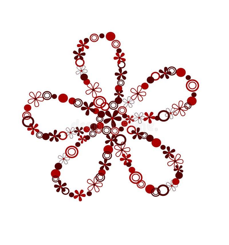 Elemento di disegno del fiore illustrazione di stock