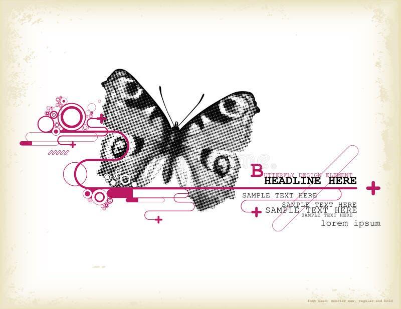 Elemento di disegno della farfalla royalty illustrazione gratis