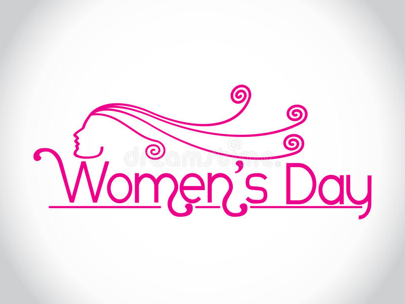 Elemento di disegno di giorno delle donne creative. illustrazione di stock