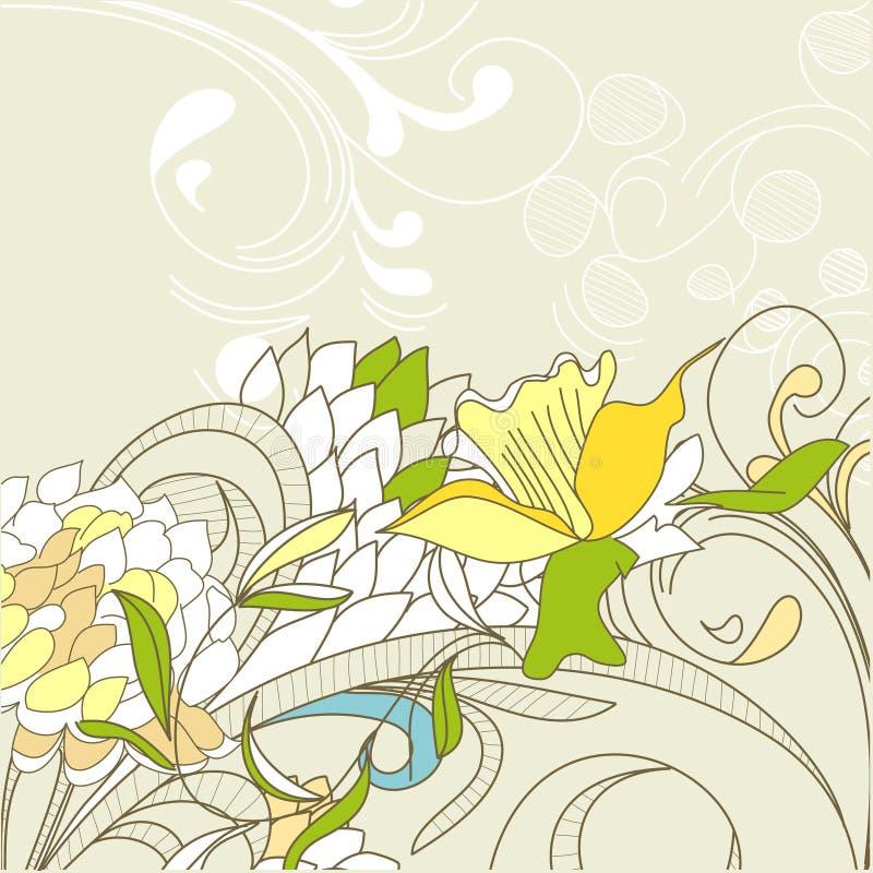 Elemento di disegno floreale dell'annata illustrazione di stock
