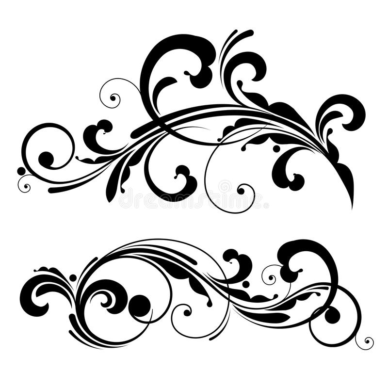 Elemento di disegno floreale di vettore illustrazione vettoriale