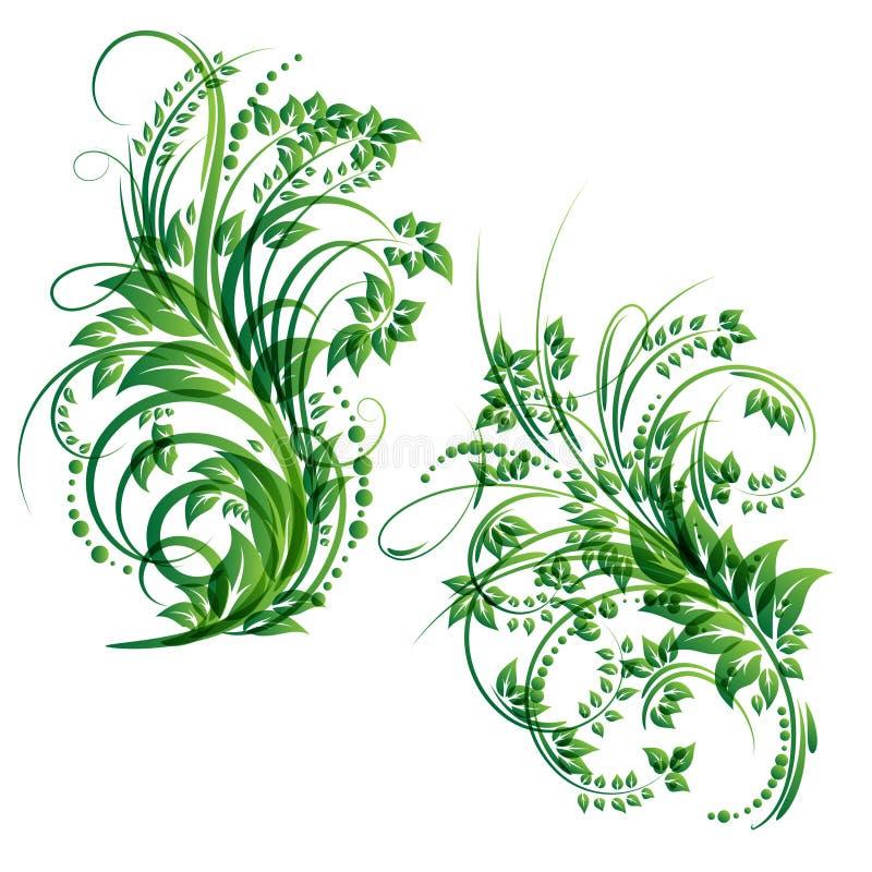 Elemento di disegno floreale di vettore illustrazione di stock