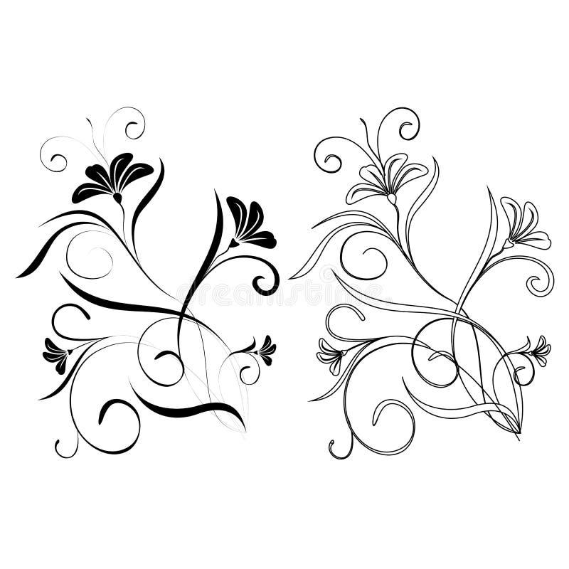 Elemento di disegno su una priorità bassa bianca royalty illustrazione gratis