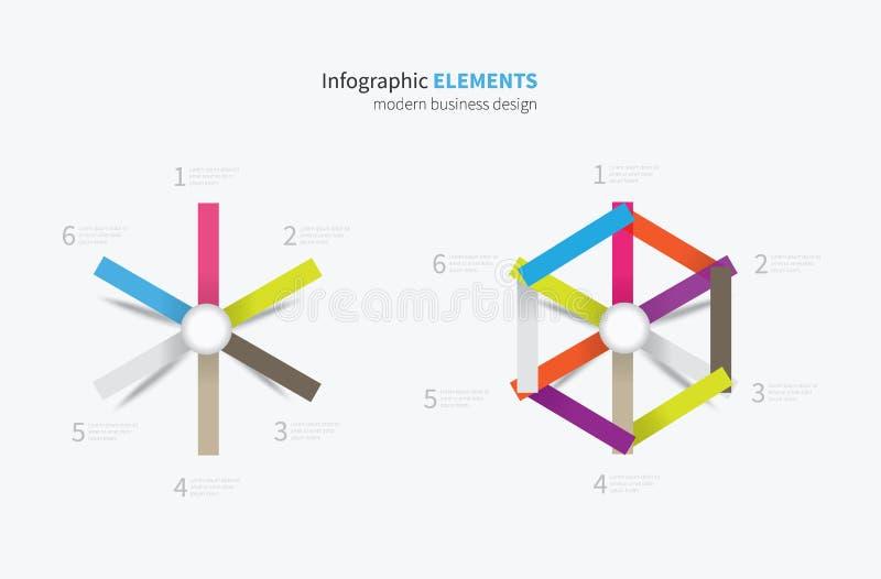 Elemento di Infographics illustrazione vettoriale
