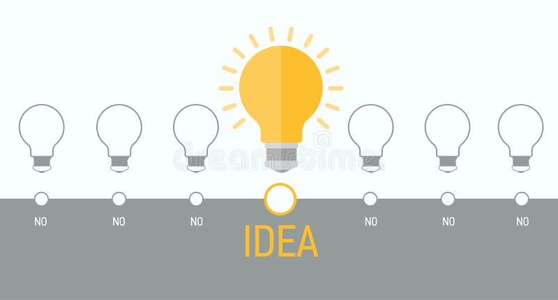 Elemento di Infographics con una lampadina illustrazione di stock