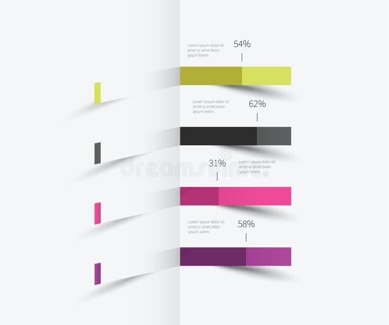 Elemento di Infographics sulla parete royalty illustrazione gratis