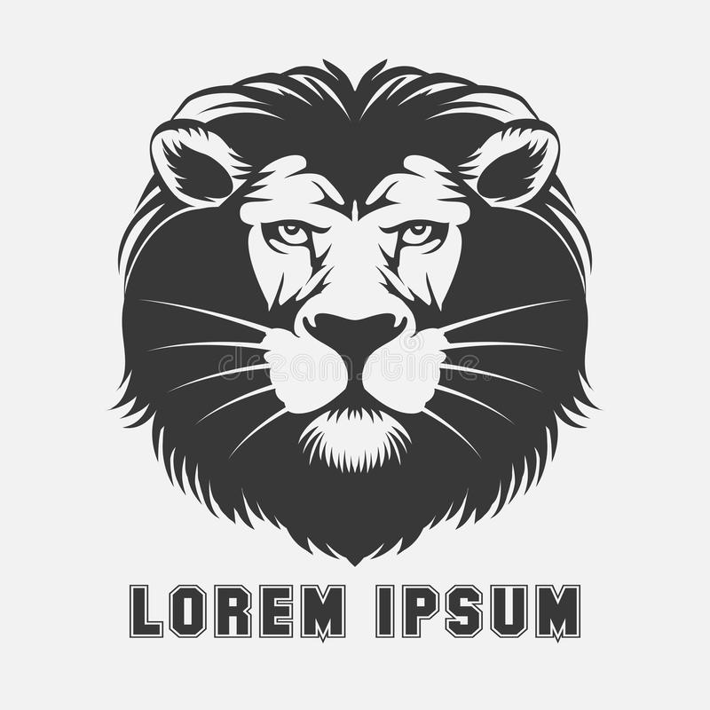 Elemento di logo del leone illustrazione di stock