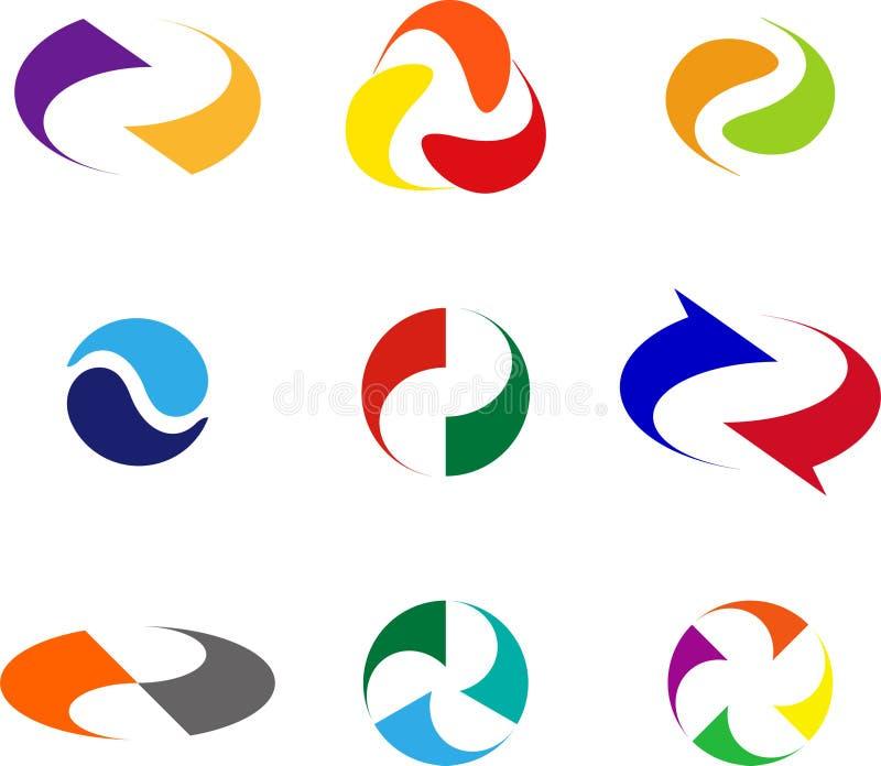 Elemento di logo dell'onda di progettazione royalty illustrazione gratis