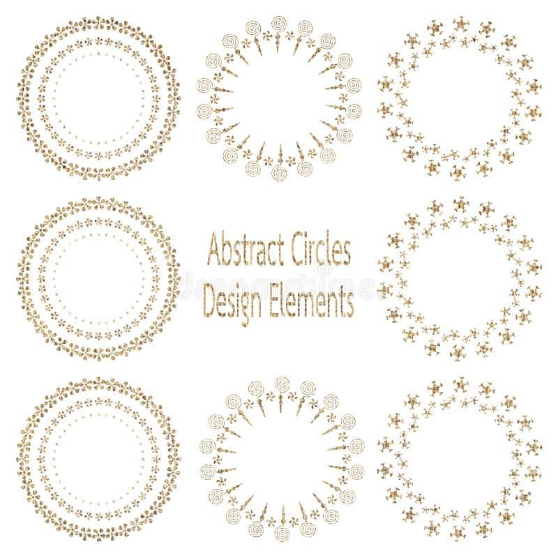 Elemento di progettazione del cerchio illustrazione vettoriale