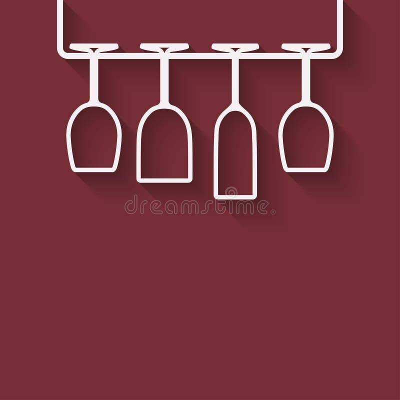Elemento di progettazione del menu del vino illustrazione vettoriale