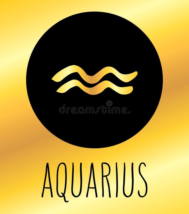 Elemento di progettazione del segno dello zodiaco di acquario royalty illustrazione gratis