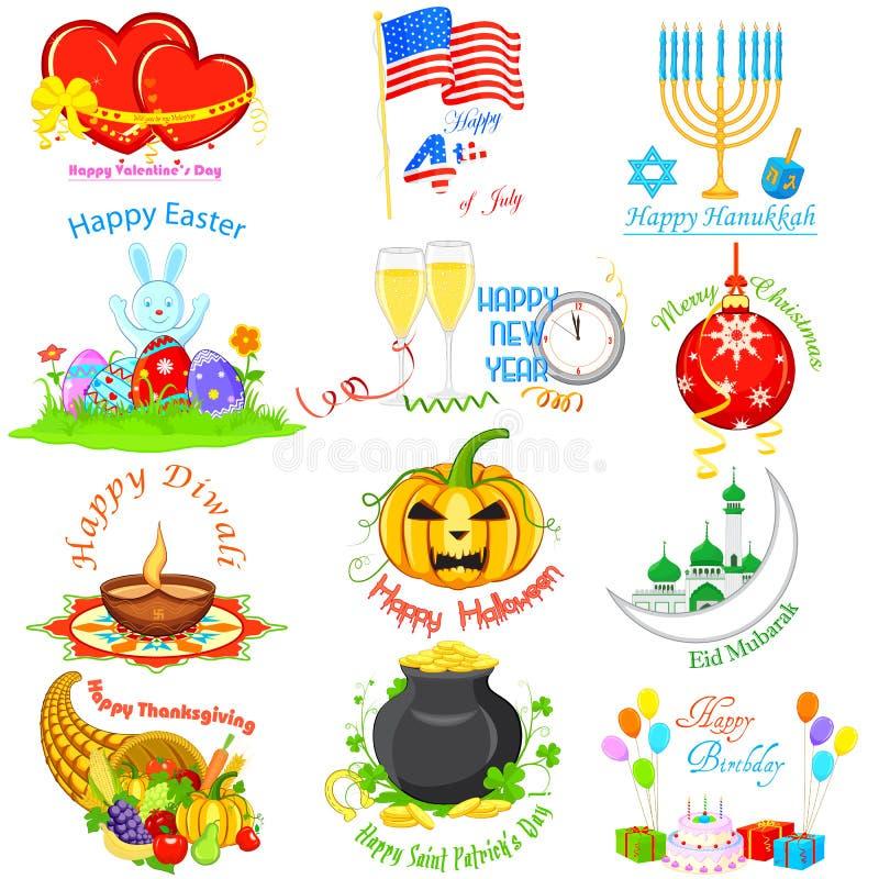 Elemento di progettazione per le feste royalty illustrazione gratis