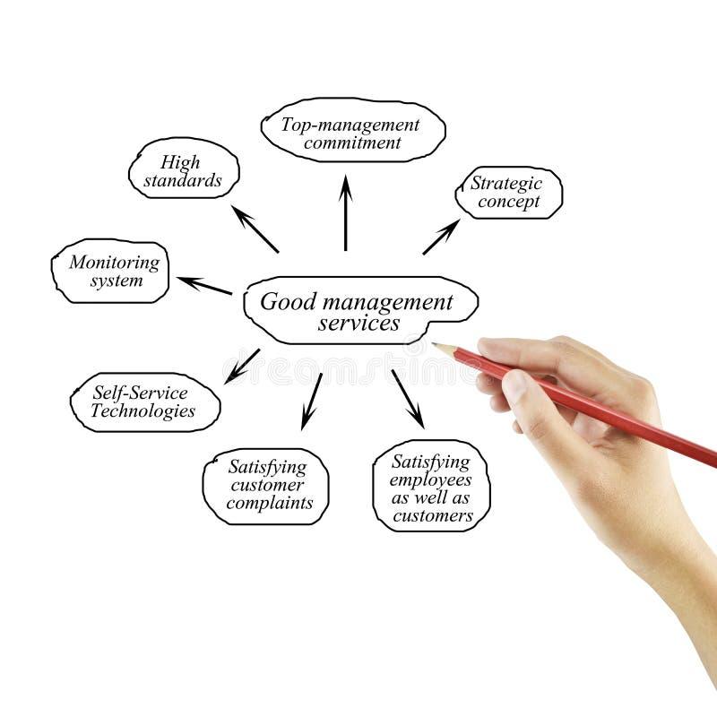Elemento di scrittura della mano delle donne dei servizi di gestione della merce per il busin immagine stock