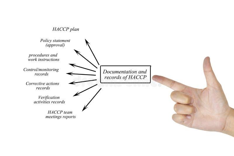 Elemento di scrittura della mano delle donne dell'annotazione della documentazione del HACCP sy immagine stock libera da diritti