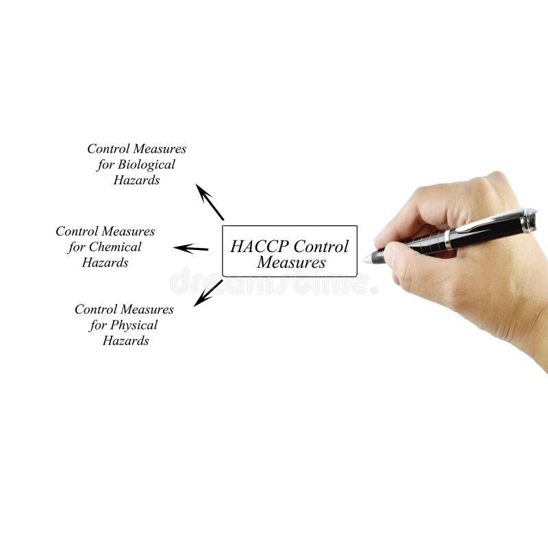 Elemento di scrittura della mano delle donne delle misure di controllo di HACCP per l'affare fotografia stock libera da diritti
