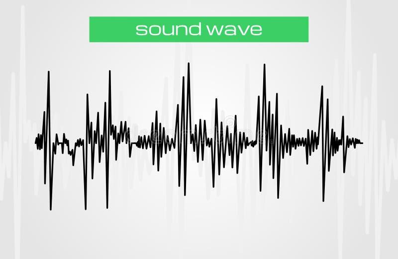 Elemento di semitono di progettazione di musica moderna dell'onda sonora illustrazione vettoriale