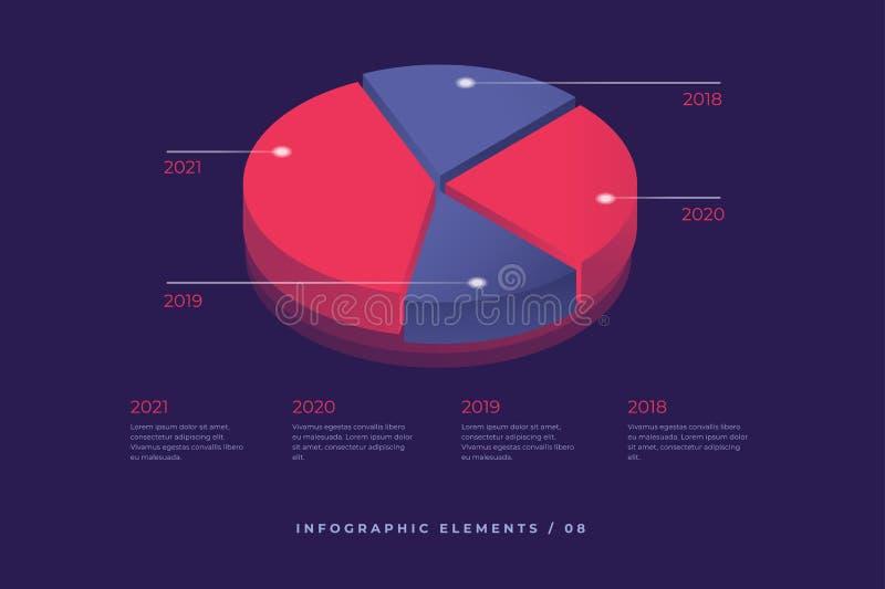 Elemento di vettore di Infographic Illustrazione della statistica di dati di informazioni Progettazione isometrica royalty illustrazione gratis
