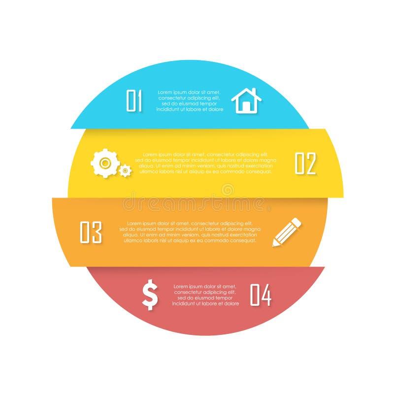 Elemento di vettore per infographic rotondo Il concetto di affari può essere usato per il grafico, l'opuscolo, il diagramma ed il royalty illustrazione gratis