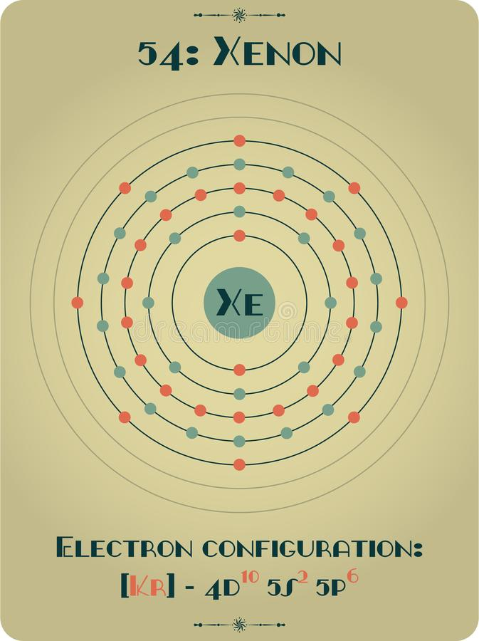 Elemento di xeno illustrazione vettoriale