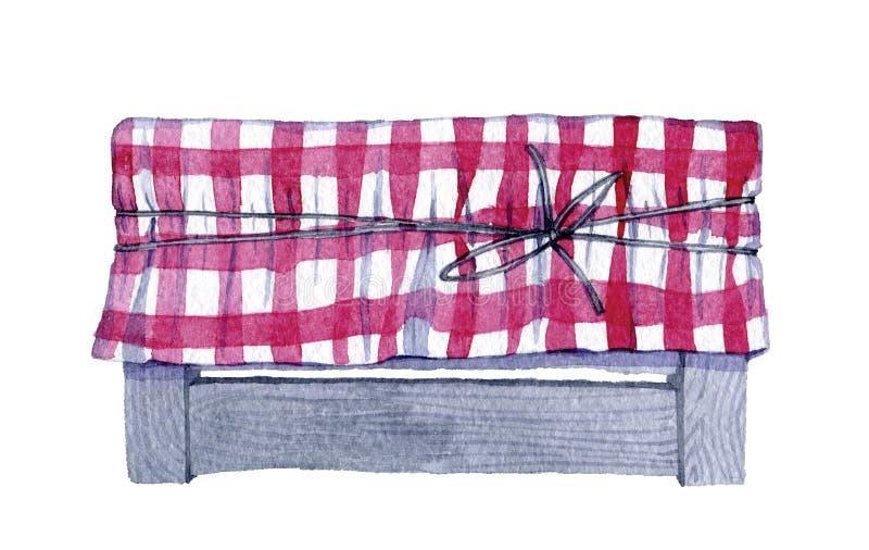 Elemento dibujado dibujado mano del diseño del elemento de la acuarela ilustración del vector