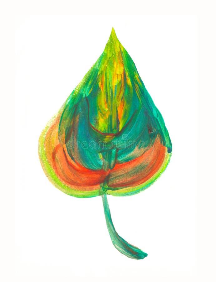 Elemento dipinto a mano Foglia dell'acquerello Dettaglio botanico per le carte, manifesto, scrabooking, web, inviti illustrazione vettoriale
