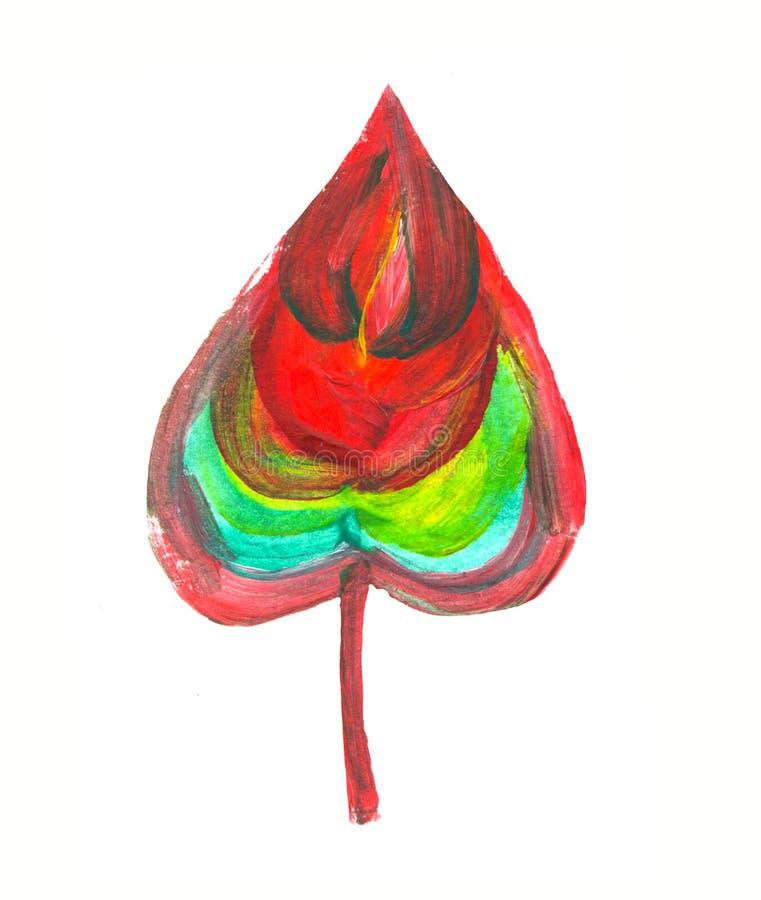 Elemento dipinto a mano Foglia dell'acquerello Dettaglio botanico per le carte, manifesto, scrabooking, web, inviti royalty illustrazione gratis