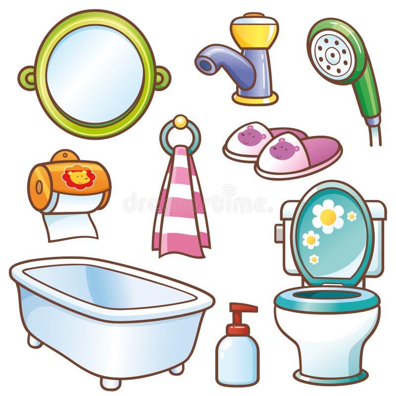 Elemento do banheiro ilustração royalty free