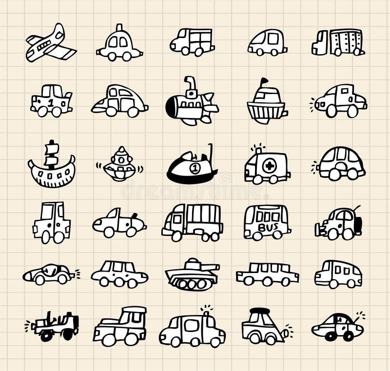 Elemento do carro da tração da mão ilustração royalty free