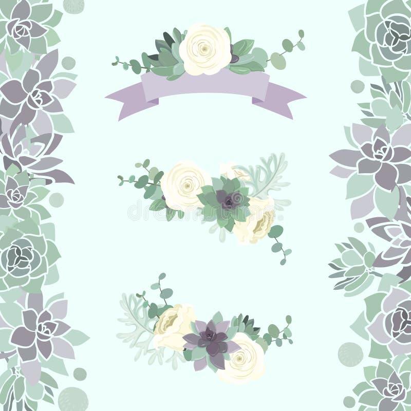 Elemento do casamento do inverno ilustração royalty free