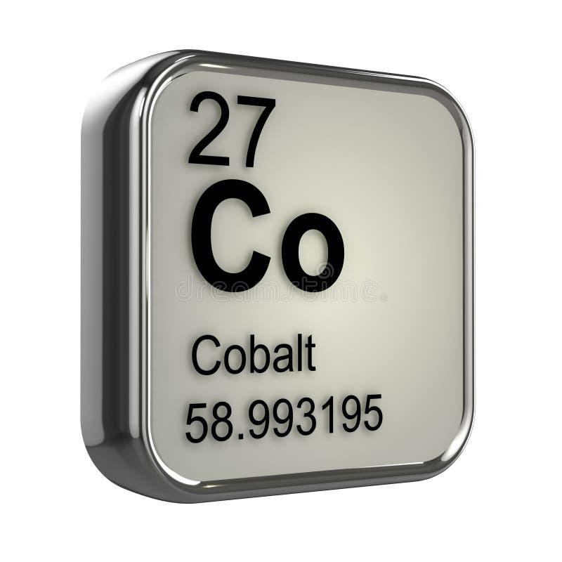 elemento do cobalto 3d ilustração do vetor