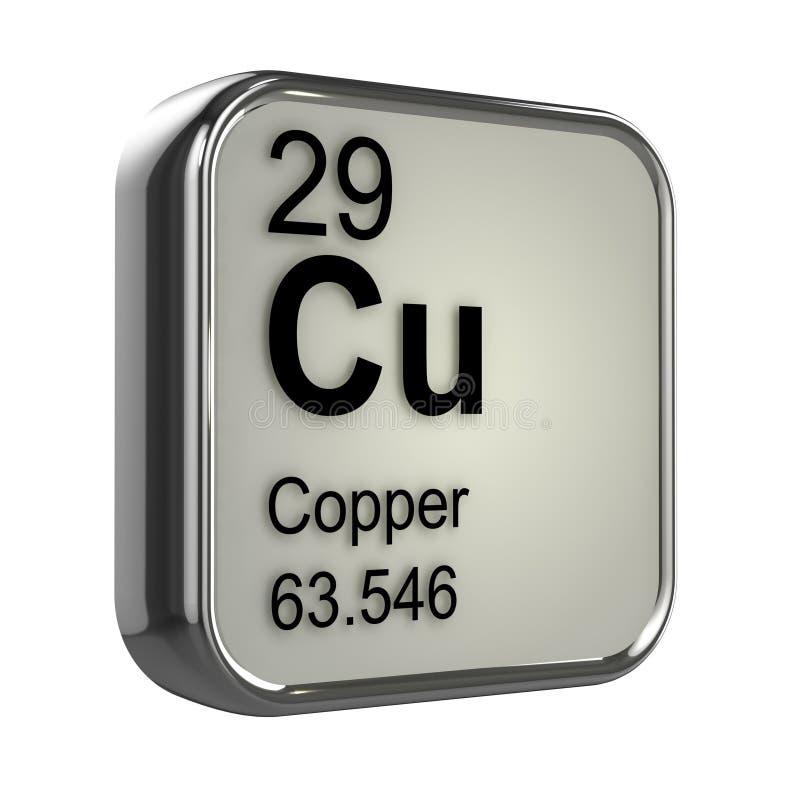 elemento do cobre 3d ilustração royalty free