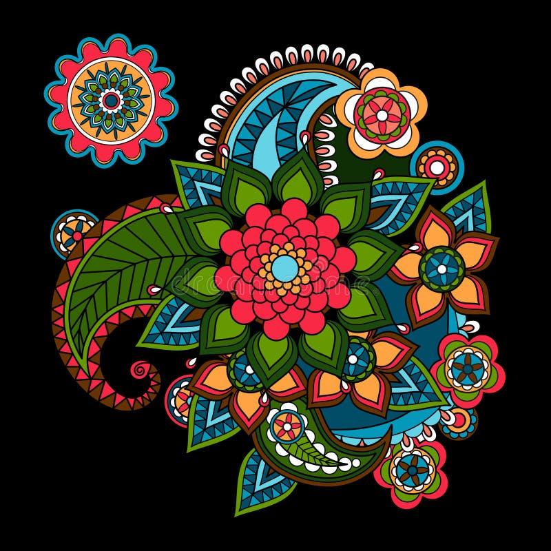 Elemento do design floral de Paisley ilustração do vetor