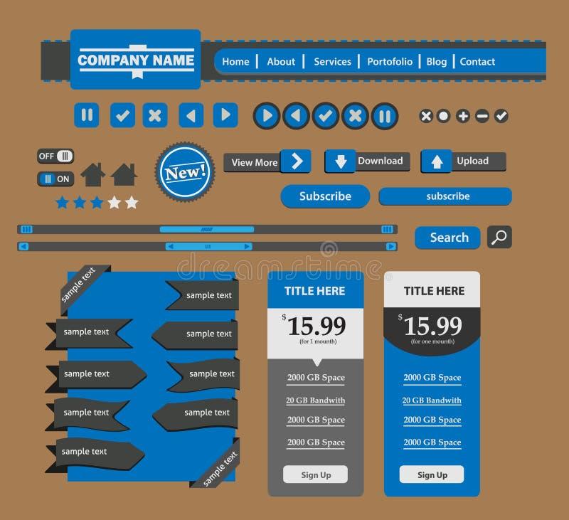 Elemento do design web ilustração stock