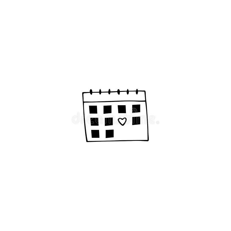 Elemento do logotipo do calendário ilustração stock