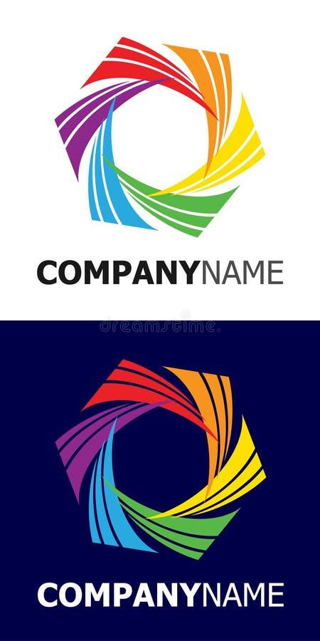 Elemento do logotipo da estrela do arco-íris ilustração royalty free