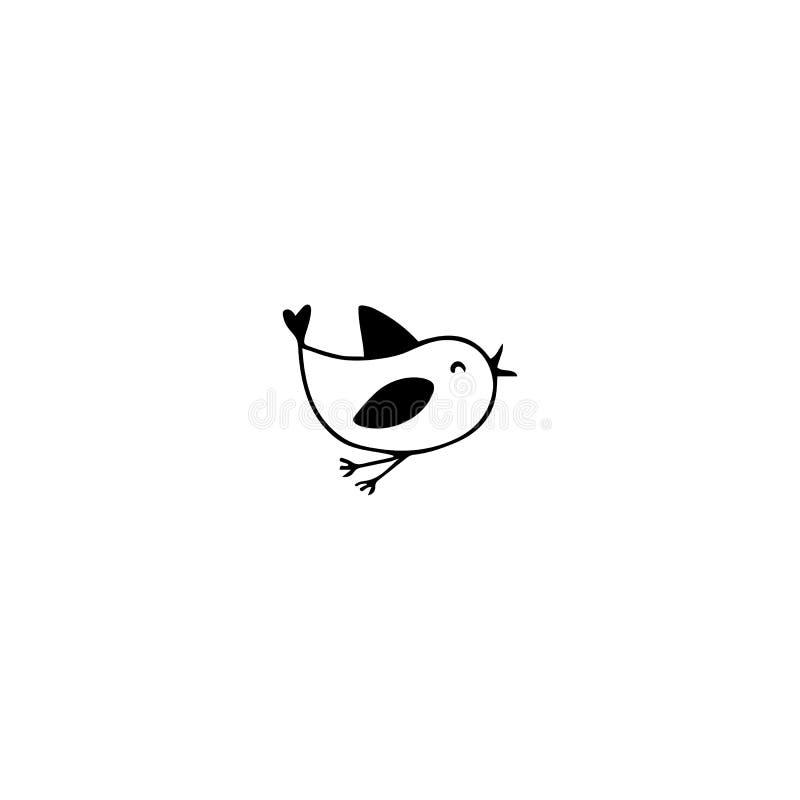 Elemento do logotipo do pássaro ilustração do vetor