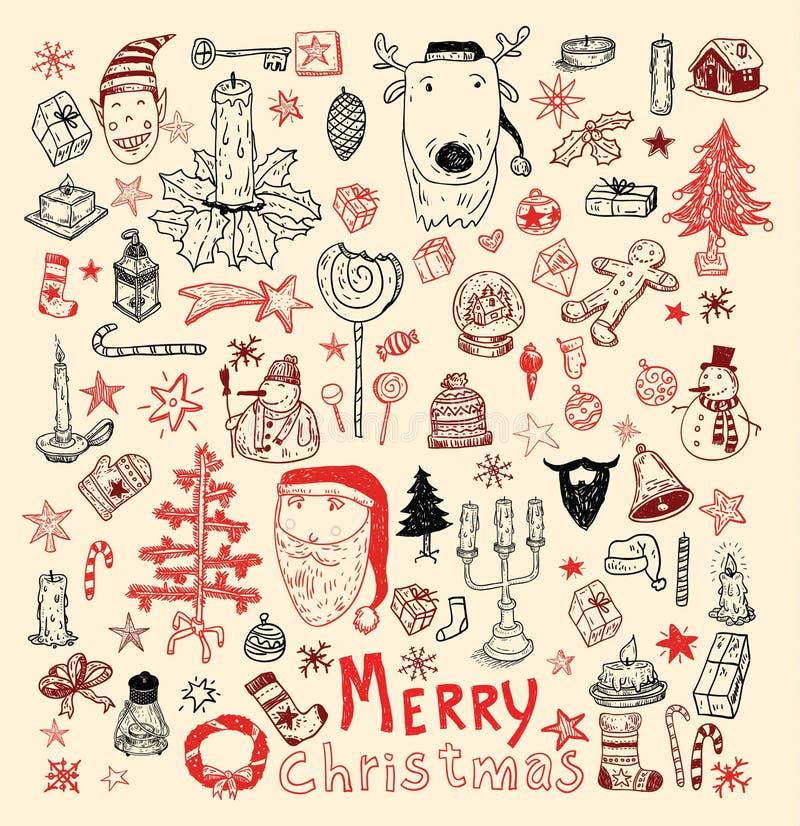 Elemento do Natal da garatuja Ilustração do vetor ilustração royalty free