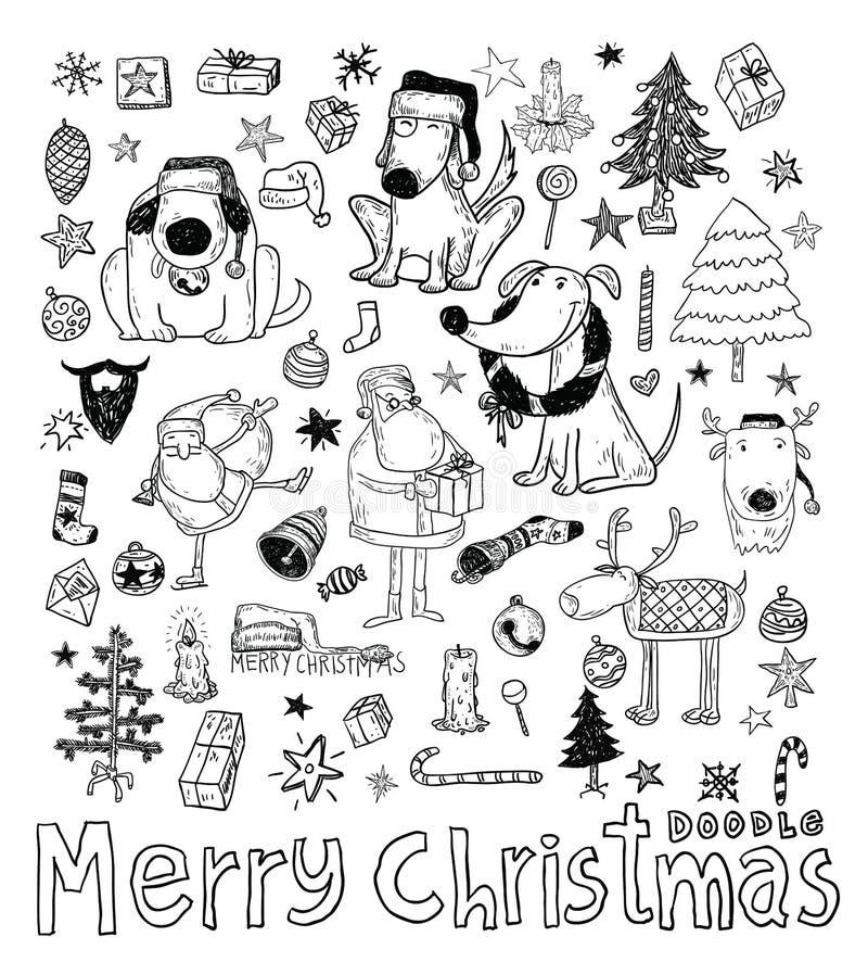 Elemento do Natal da garatuja Ilustração do vetor ilustração do vetor