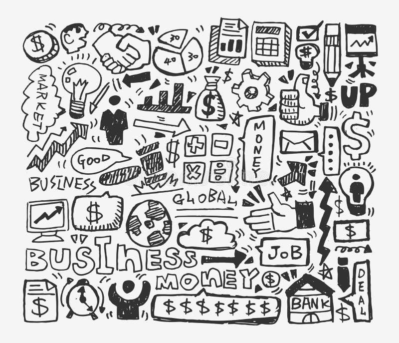 Elemento do negócio da garatuja ilustração royalty free