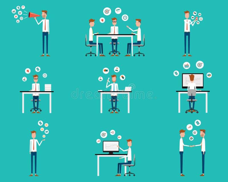 Elemento do negócio dos povos para infographic ilustração stock