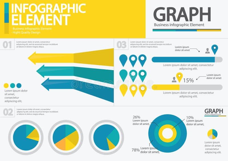 Elemento do negócio/projeto infographic/infographic qualidade da altura ilustração stock