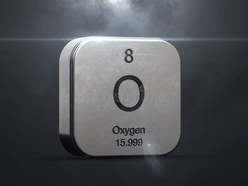 Elemento do oxigênio da tabela periódica ilustração royalty free