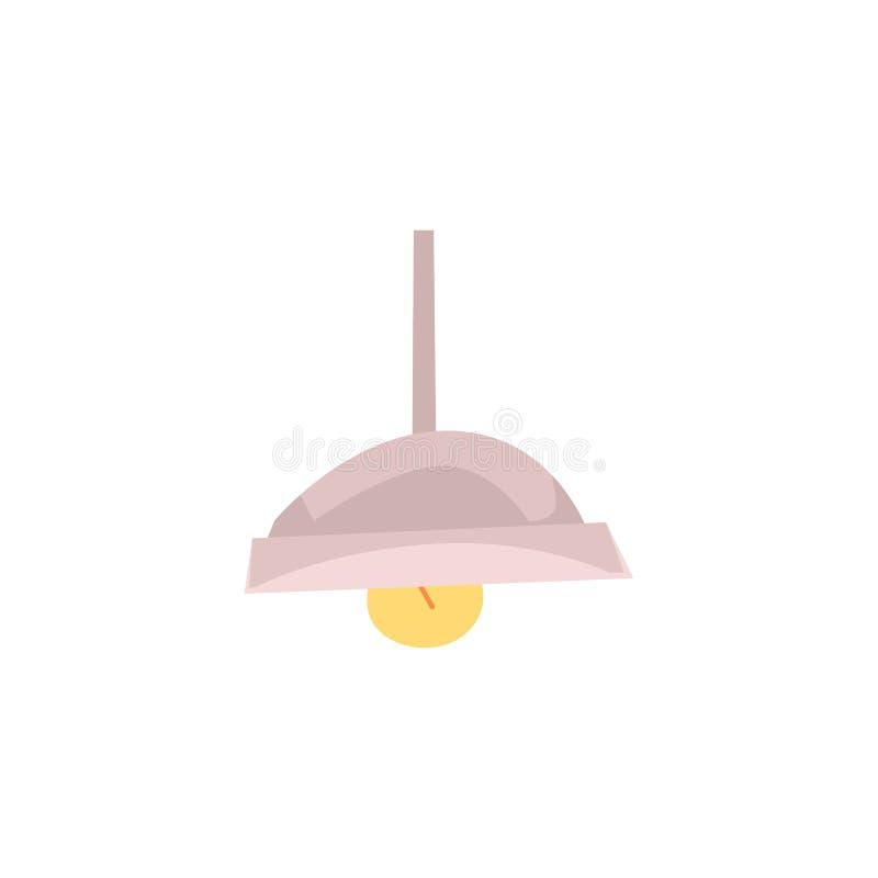 Elemento do ponto do teto na ilustração lisa do vetor do banheiro isolada no branco ilustração do vetor