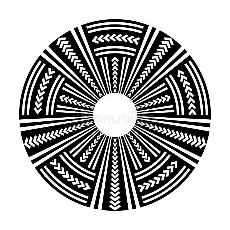 Elemento do projeto do círculo Teste padrão do disco ilustração royalty free