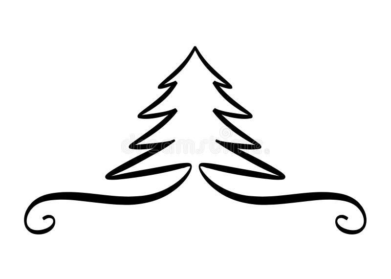 Elemento do projeto da árvore de Natal ilustração royalty free